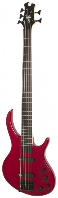 EPIPHONE TOBY DELUXE V BASS (GLOSS) TRANS RED
