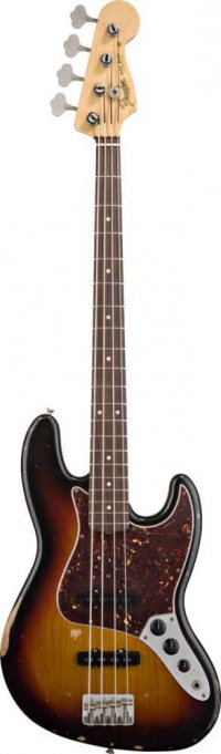 FENDER MEXICAN ROAD WORN 60S JAZZ BASS SUNBURST