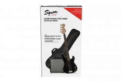 SQUIER BY FENDER AFFINITY SERIES PRECISION BASS PJ PACK LRL BLACK GIG BAG RUMBLE 15 - 230V EU