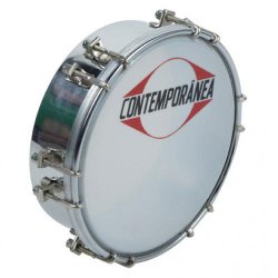 CONTEMPORANEA C-TAM02 - TAMBORIM 6'' METAL CHROME - 12 TIR.