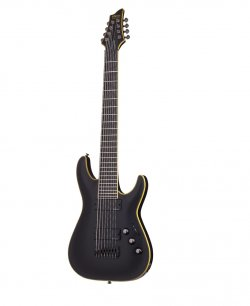 SCHECTER BLACKJACK ATX C 8 AGED BLACK SATIN