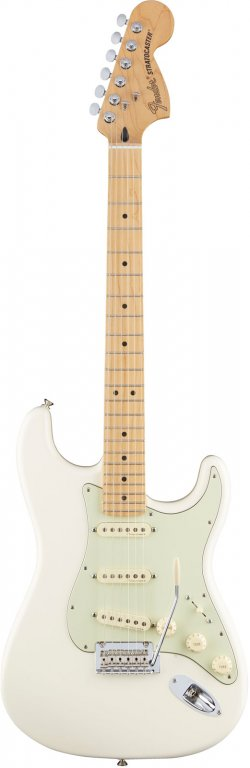 FENDER MEXICAN DELUXE ROADHOUSE STRATOCASTER MN OLYMPIC WHITE