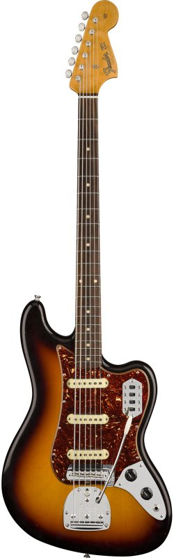 FENDER 1963 BASS VI JOURNEYMAN RELIC RW FADED 3-COLOR SUNBURST