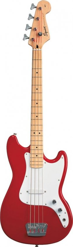 SQUIER BY FENDER BRONCO BASS MN MN TORINO RED